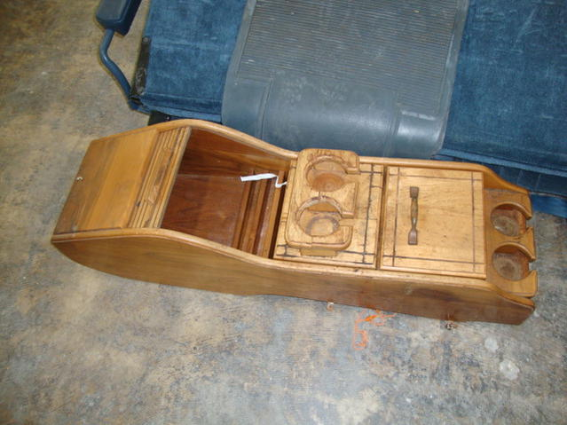 Wooden Center Console ~ Suburban conversion wood center console the