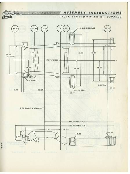 196066    Chevy   GMC Truck Frame    Diagram     The 1947  Present